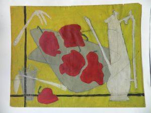 huile-sur-papier-thompson-avant_atelier-restauration-papier