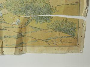 riviere-chromo-lithographie-dechirure-plis_atelier-restauration-papier