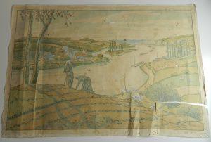 riviere-lithographe-dechirure-jaunissement_atelier-restauration-papier