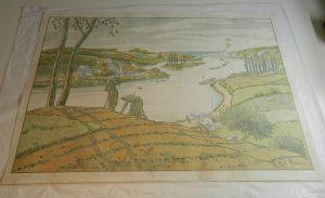 riviere-lithographie-mise-a-plat-dechirure_atelier-restauration-papier